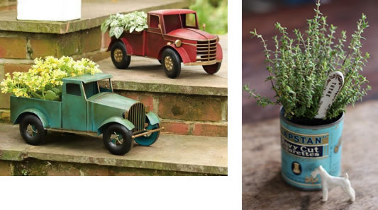 Trucks and can for planters