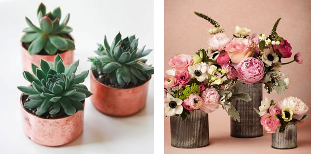 EverBloom Floral trends: copper and corrugated pots