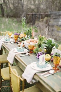 Decor for farmer's garden party