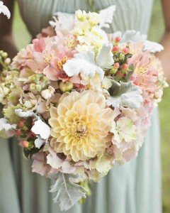 Soft bouquet with dahlias