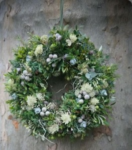 Fresh green wreath