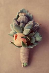 Succulents & flowers boutonniere