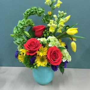Roses, tulips, mums by EverBloom Floral and Gift