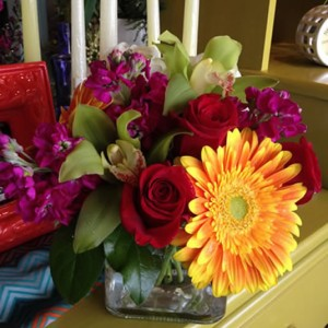 Gerbera, roses, orchids by EverBloom Floral and Gift